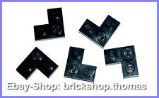 Lego 5 x Eckplatten Platten schwarz - 2420 - Plate 2 x 2 Corner black - NEU /NEW
