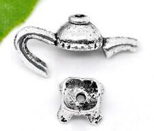 Endkappe Kanne Kessel Antiksilber (für 8-10mm Perlen)  5St kette Metall Schmuck