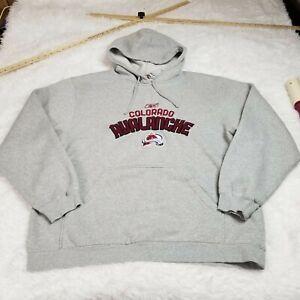Reebok FaceOff Collection Colorado Avalanche Mens Hoodie Sweatshirt Large L Gray