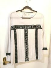 SALE NEW Thought Stone Black Lace Detail Blouse 14
