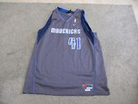 f46cac2c552 NIKE Dirk Nowitzki Dallas Mavericks Basketball Jersey Adult 2XL XXL NBA  SEWN Men