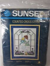 """My Mother Counted Cross Stitch Kit Sunset 2977 Vintage 1985  9"""" x 12"""""""