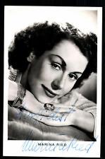 Marina Ried Autogrammkarte Original Signiert ## BC 20728