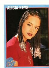 Alicia Keys teen magazine pinup clipping braided hair red shirt Pop Star 2002
