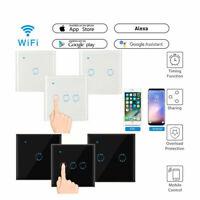 UK Plug Smart Light Wall Switch WiFi Wireless Touch Retome For Alexa Google