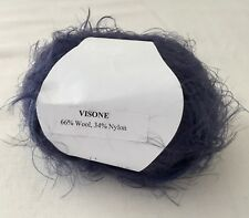 Discontinued VISONE Aran weight Wool/Nylon yarn by trendsetter - clr 11 Marine
