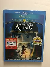 The Secret World of Arrietty (Blu-ray/DVD, 2012, 2-Disc Set) NEW w/slipcover