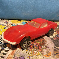 Vintage RARE 1980s Red Tonka Toys Corvette Stingray From Transporter Set