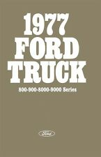 1977 Ford Heavy Duty Truck 800 900 8000 9000 Owners Manual Guide Operator Book