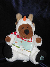 """Caribou Coffee Hug-a-Bou Snowman Bou Plush Toy with Tags Gift Card Holder 8"""" NEW"""