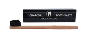 NEW PREMIUM: Charcoal Toothpaste + BAMBOO Tooth Brush DR CHARCOAL | Natural MINT