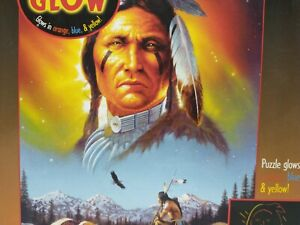 Glow In The Dark Chief Eagle Feather 750 Piece Puzzle Native American Ceaco