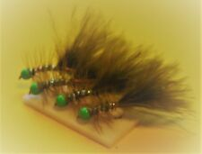 X4 blanc hothead stalker fly taille 12 trout fishing flies