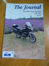 THE JOURNAL THE BMW CLUB MAGAZINE JULY 2015 NEAR MINT BIKE MOTORBIKE MOTORCYCLE