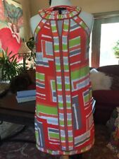 Orange Lime Green Gray White Retro BCBGMaxAzria M Comfy Sexy Cute