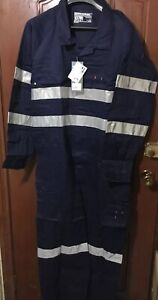 Box of 10 Workhorse Work Lightweight Coverall Hivis Cotton Navy Size 107R RRP$75