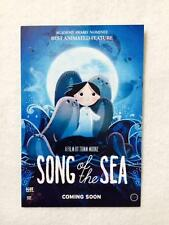 """SONG OF THE SEA DS ORIGINAL MOVIE POSTCARD Poster 4""""x6"""" MINT D/S Tomm Moore 2014"""