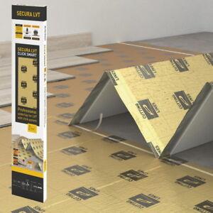 SECURA LVT Trittschalldämmung für Vinyl- & Designböden, Druckfest, Dampfsperre