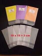 100 CELLOPHANE BAGS -10 cm x 15 cm +3 cm lip - 40 micron-SELF SEAL-Free Postage