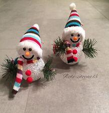 2 LED Schneemann Lichtkugeln Weihnachten Schneeball Licht Farbwechsel Advent Neu