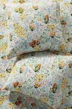 NWT ONE Anthropologie Colloquial Euro Sham Cotton Floral Wildflowers