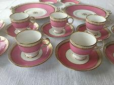 Antique 1900 Royal Cauldon England Porcelain, 9 Tea Cups, 11 Saucers, 2 Plates