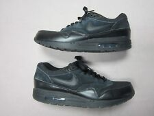 uk availability c6b2e 88f8b NIKE AIR MAX 1 ESSENTIAL MENS ALL BLACK SNEAKERS SHOES SIZE 11.5 537383-020  RARE