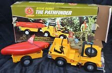 Vintage Kenner THE PATHFINDER Jeep Trailer Boat & Steve Scout Toy Set Boy Scouts