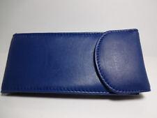 Marshal Blue Genuine Soft Leather Eyeglasses /IPhone 7 Multi-use Case #1508BL