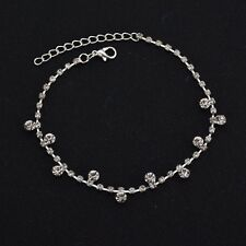 Adjustable Chain Foot Beach Jewelry Silver Ankle Bracelet Women Anklet