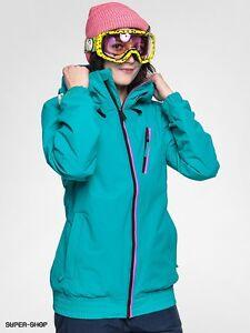 Volcom Panorama Insulated Jacket Womens 8k Waterproof XXS Teal
