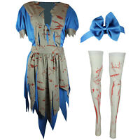 HALLOWEEN HORROR ALICE IN OUTFIT FANCY DRESS COSTUME BLOODY WONDERLAND PARTY