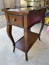Vintage Ethan Allen Queen Anne Style Tea Table w/Drawer