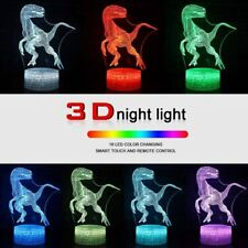 3 Designs 3D Night Light Led Illusion 7 Color Children's Gifts Bedroom