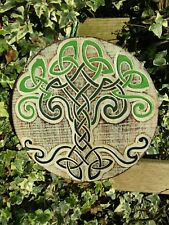 Fair Trade Hand Carved Made Wooden Celtic Tree Knot Wall Art Hanging Plaque Sign