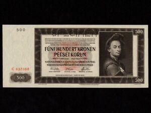 Bohemia & Moravia:P-11s,500 Kronen/Korun,1942 * Specimen * Peter Brandl * UNC *