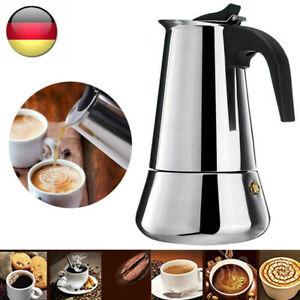 Espressokocher 12 Tassen Induktion Mokkakanne Kaffeekocher Edelstahl 600ml DEU