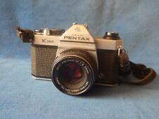 Asahi Pentax K1000 Camera With Pentax-M 1:2 50mm Lens