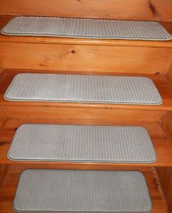"13 = Step  9"" x 30"" + Landing 30"" x 30""  Stair Treads WOVEN Wool CARPET ."