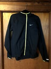 Nike, lightweight jacket, black with lime green trim, Size Large