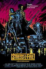 STREETS OF FIRE Movie POSTER 27x40 Michael Pare Diane Lane Rick Moranis Amy