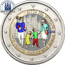 Vatikan 2 Euro Gedenkmünze 2012 stgl. Weltfamilientreffen in Mailand in Farbe