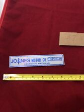 Old Plastic Car Dealer Emblem Jones Motor Co. Toyota Edgewood Maryland
