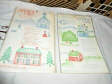 STENCIL EASE HOME DECOR MINIATURE TOWNSHIP NEW LOT OF TWO