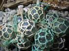 NETTED Vintage Japanese Glass Fishing Floats Alaska Beachcomb