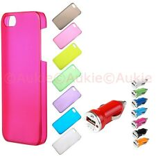 ONE Slim & Thin Matt Colored iPhone5S Hard Case + ONE Turbo USB Car Charger