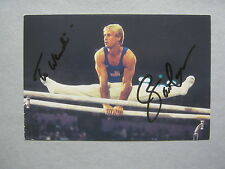 BART  CONNER   2 Olympic Gold  Medals  Signed  4 X 6  Color  Photo  Postcard