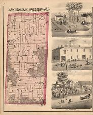 1872 Ogle County Atlas Illinois maps Genealogy state Plat old Land Owner Dvd P21