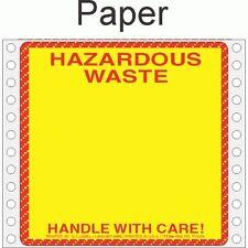 Hazardous Waste Paper Labels HWL155P (PACK OF 500)