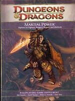 JDR RPG JEU DE ROLE / D&D 4 / DUNGEONS ET DRAGONS 4 MARTIAL POWER VO